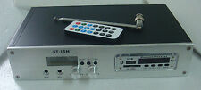ST-15M 1.5W/15W FM stereo transmitter Support bluetooth MP3 USB SD  only host