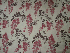 "SANDERSON CURTAIN FABRIC DESIGN ""Wisteria"" 5.3 METRES BERRY & PLUM (530 CM)"