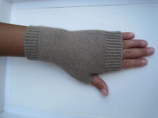 100% Mongolia  Pure Cashmere Wool Fingerless Thick Women Woman Gloves Mittens