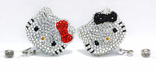 "2pc Bling Hello Kitty 45mm/ 1.9"" Retractable Reel ID Landyard Badge Holder"
