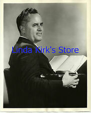 """Dr Bergen Evans Photograph Seated With Book """"Down You Go"""" Game Show ABC-TV 1950s"""