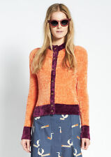 House Of Holland Henry Holland Orange & Purple Fluffy Cardigan. UK 8. RRP £130