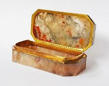 Fine EMPIRE PERIOD AGATE BOX c1810 Gilt Bronze Mounts - RUSSIAN OR FRENCH