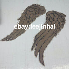 walking dead daryl dixon wings embroidered with fabric wing patches for jacket