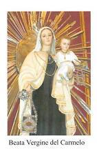 """OLD nice italy rare Holy cards """"H5282"""" san beata de vergine del camelo"""