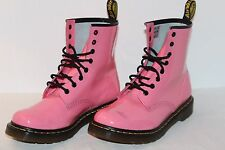 DR MARTENS 1460 W LEATHER AIR WAIR WOMEN'S BOOTS 9 US 7 UK PINK 8 EYELET VG/EXUC