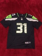 Kam Chancellor #31 Seattle Seahawks On Field Home Jersey Mens Size 40 Medium