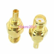 1pce Adapter Connector SMA female jack to CRC9 male Gold for huawei 3G modem
