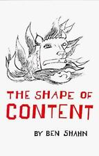 The Shape of Content by Ben Shahn Paperback Book (English) BRAND NEW BOOK