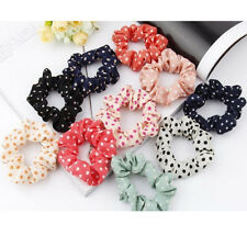 10pcs Women Elastic Polka Dot Print Hair Band Rope Scrunchie Ponytail Holder