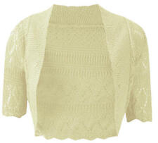 J12 NEW WOMENS KNITTED BOLERO SHRUG CROCHET CARDIGAN LADIES PLUS SIZE TOP 8-32