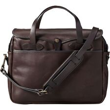 FILSON Weatherproof Leather Original Briefcase Laptop Bag Brown New