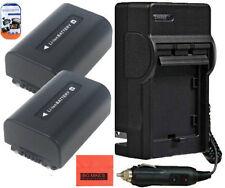 2 NP-FV50 Batteries & Charger for Sony HDR-PJ50 J200 PJ230 PJ260V PJ380 XR350V