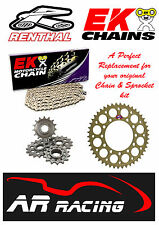Renthal / EK Chain & Sprocket Kit to fit Suzuki GSXR 1000 K1-K6 2001-2006