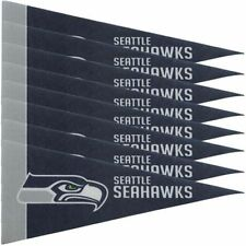 "Seattle Seahawks 4"" x 9"" Mini Pennant Banner Flag Fan Cave Decor 8 Pack Set NFL"