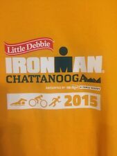 2015 Ironman Chattanooga Triathlon T-Shirt Volunteer Yellow Small Zorrel Mens