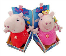 WITH SOUND  OINK ! ! 1PC RED LARGE 13 INCH CUTE PEPPA PIG PLUSH SOFT TOY STUFFED