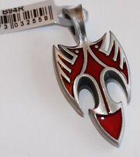 BICO Australia's BLACKBIRD (B94) silver plated pendant with red accent