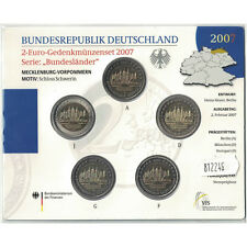 [#93486] Germany, Euro Set of 5 x 2 Euro, 2007 ADFGJ