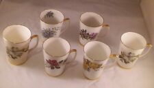 Royal Victoria Fine Bone China England Coffee Cup Mugs Assorted Flowers