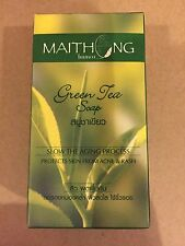 Maithong Green Tea Soap Natural Slow the Agging, Protects Skin from Acne & Rash