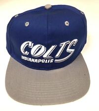 Indianapolis Colts - Blue and Gray NFL Team Apparel Snapback Hat - NEW