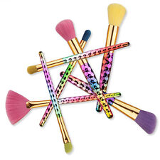 7pcs/set Natural Colorful Honeycomb Eyeliner Lip Brush Makeup Brushes Tool Set