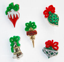 Christmas Ornament Buttons / Dress It Up Holiday Collection / Jesse James