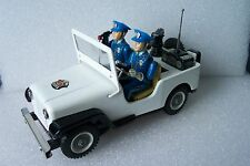 Battery Operated Police Radio Car Jeep from Japan 1960's Clean condition Works