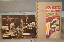lot 2 vintage old Wine and Your Restaurant Mosel & Rhine Swiss Colony recipes &