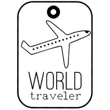 """Imaginisce Perfect Vacation """"Travel Bags"""" Clear Stamp! Airplane"""