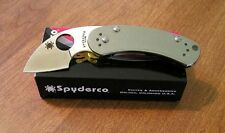 SPYDERCO New Stainless Steel Handle Equilibrium Pln Edge VG-10 Bld Knife/Knives