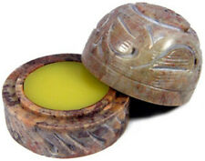 Sandalwood Solid Perfume in Hand Carved Soapstone Container With Lid!