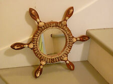 Miroir coquillages souvenirs bord de mer, barre de marine  vintage année 50 60