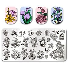 BORN PRETTY Nail Art Stamping Plate Manicure Image Template Flower Design BPL-67