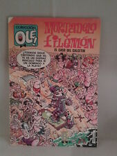 COMIC MORTADELO Y FILEMON OLE EL CASO DEL CALCETIN ED. BRUGUERA 1988