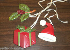 NEW Longaberger Holiday Tie-ons Set of 3