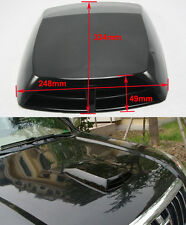 Universal Car Auto decorative Air Flow Intake Scoop Bonnet Vent Cover Hood Black