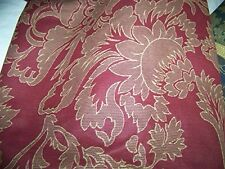 "NEW REVMAN CLARET RED PINK FLORAL BOTANICAL FULL BEDSKIRT 15"" DROP POLY"