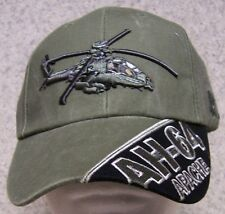 Embroidered Baseball Cap Military Helicopter AH-64 Apache NEW 1 hat size fit all