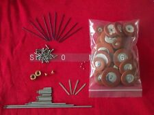 Alto sax repair parts Rollers & screws & Spring +1 set Alto sax pads