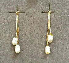 14K Gold and Fresh Water Pearl drop earrings