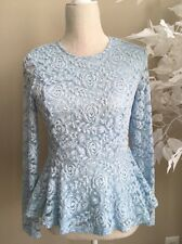 Forever 21 Lace Peplum Top Blouse Small