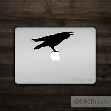 Raven - Mac Apple Logo Laptop Vinyl Decal Sticker Macbook Animal Crow Bird Cute