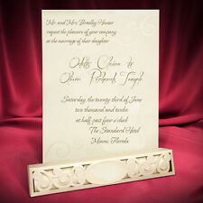 100 Scroll Fairytale Wedding Invitation Personalized Printing Laser Cut Box
