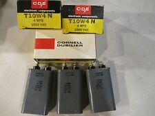 3 NOS NIB CDE T10W4N Oil Capacitors 4 MFD @ 1000 VAC Cornell Dubilier