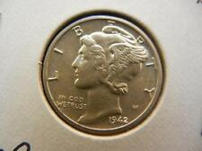 1942-D Mercury Dime Choice Bu Lot 15P