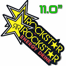 "11""X2P. BIG ROCKSTAR ENERGY DRINK DECAL STICKER PRINTED DIE-CUT AUTO MOTOR SPORT"