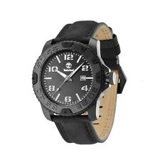 Timberland Ogunquit 13672JSB/02A Men's Black Leather Strap Watch