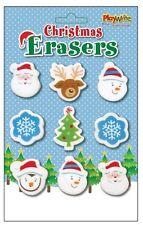 Paquete de 9 Navidad BORRADORES {Playwrite} (Navidad Detalles/Papelería/Cauchos)